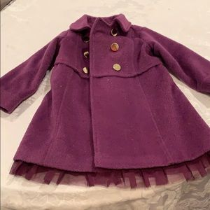 Adorable purple dress coat with sparkles